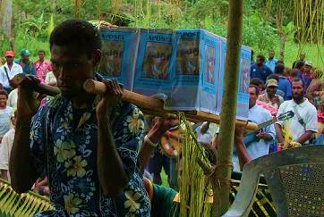 Ap Ma Book of Acts carried to the Village