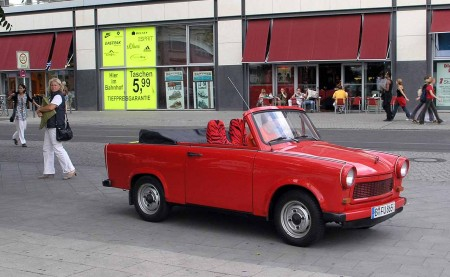 The unreliable and terribly smelly Trabant all blinged up - Berlin