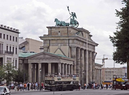 The back side of the Brandenburg Gate, Berlin