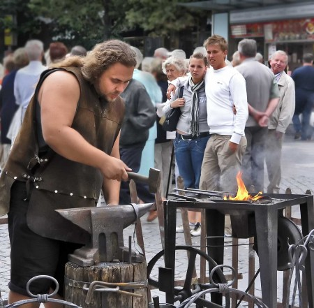 A Prague Blacksmith demonstrates the Rule of Thirds