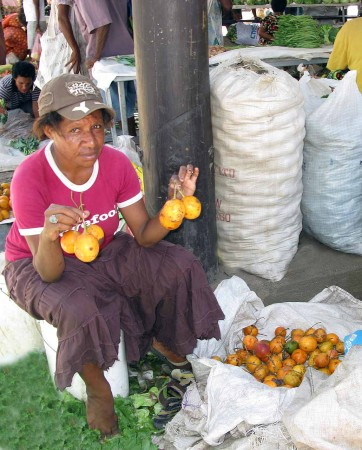 Sugarfruit at the market in Madang, Papua New Guinea