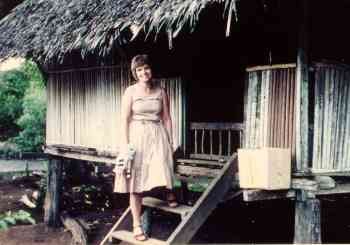 Eunice at a village house where we took part of our training
