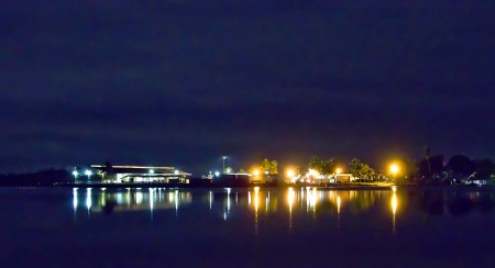 The harbour at night - Madang