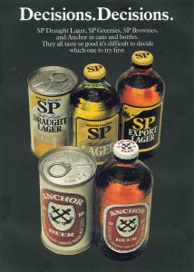 Old South Pacific Brewery ad from Paradise Magazine