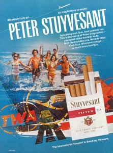 Stuyvesant cigarette ad from an early Paradise magazine