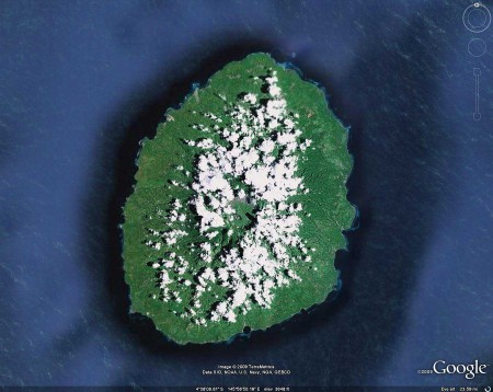 Kar Kar Island from Google Earth