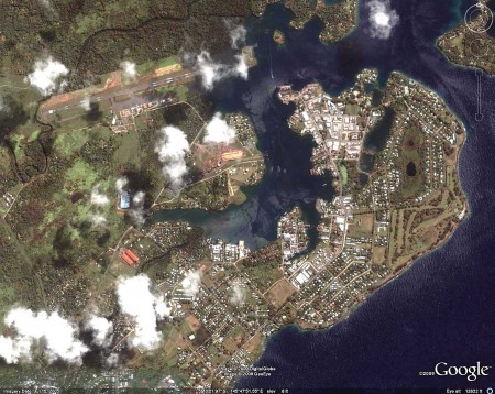 Madang, Papua New Ghinea - most of the town on Google Earth