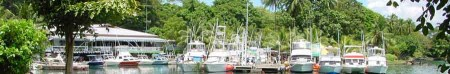 Sport fishing boats at the Madang Game Fishing Club