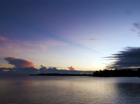 Firey sunrise over Kranket Island, Madang, PNG