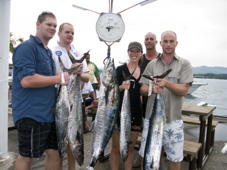 The Cassell team and a fine catch of Mackerel