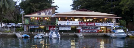 The Madang Club awaits the return of the fishing boats on the first day