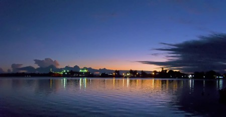 Sunrise over Madang, PNG