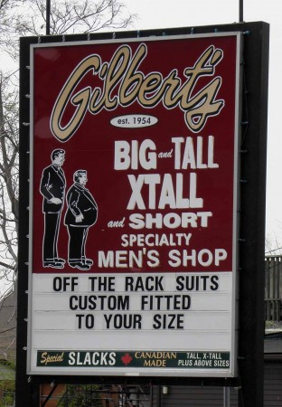 Custom fitted off-the-rack suits?  I don't think so.
