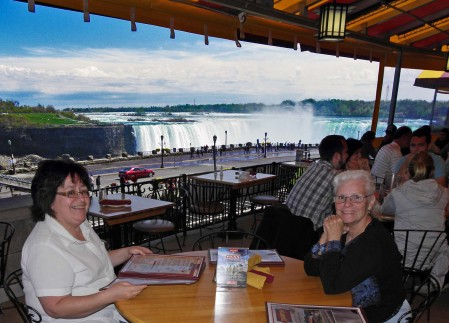 Eunie and Brenda with the Canadian Niagara Falls