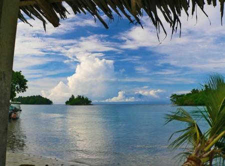 Kar Kar Island as seen from Blueblood - photo by Val Jerram