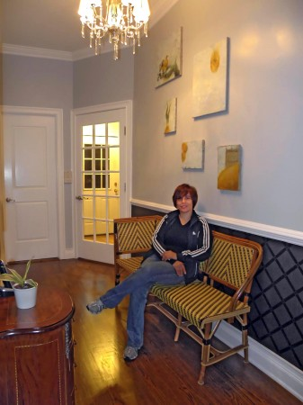 Stephanie in her reception area - La Maison d'Art - New York City