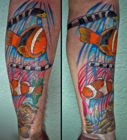 The Reef Scene Tattoo